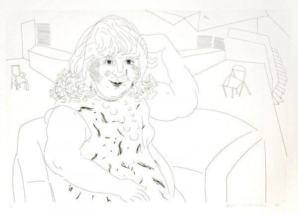 Ann In The Studio by David Hockney