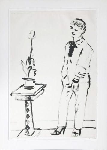 Celia Musing by David Hockney at David Hockney