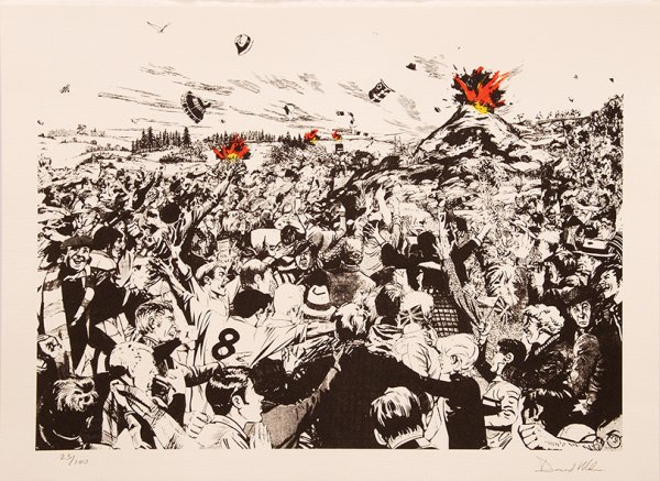 Untitled [volcanic Crowd]. by David Mach at Peter Harrington Gallery
