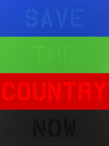 Save The Country Now by Deborah Kass at