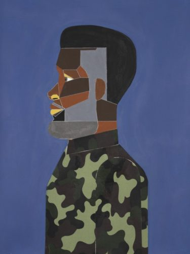 Man In Tidal Blue by Derrick Adams at