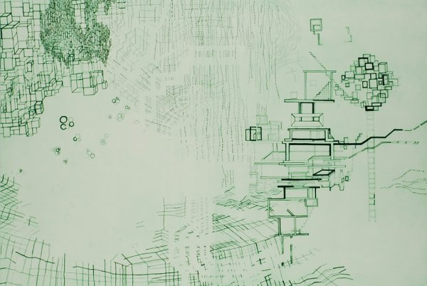 Untitled #4 (green) by Diana Cooper at