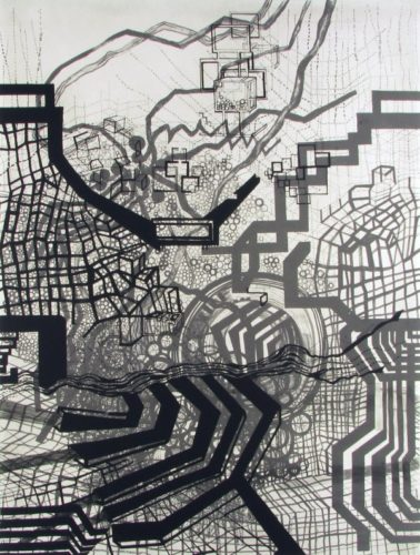 Thin Air 3 (grey black) by Diana Cooper at