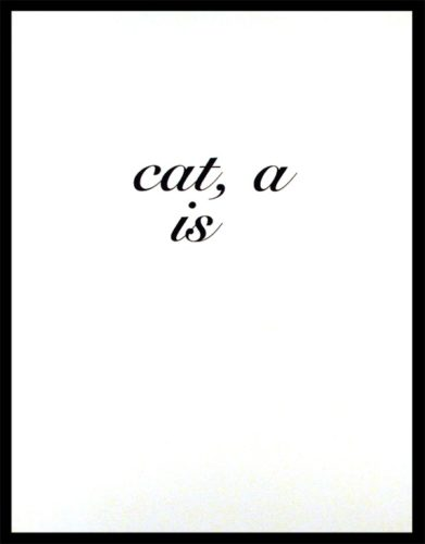 Cat A Is by Diana Thater