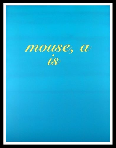 Mouse, A Is by Diana Thater