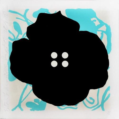 Button Flower Aqua by Donald Sultan