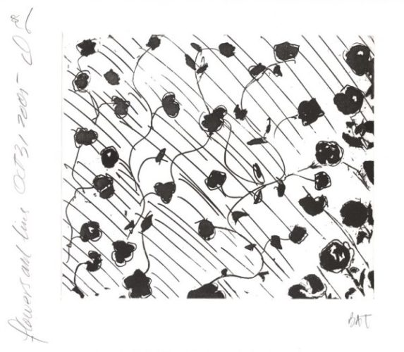 Flowers And Lines by Donald Sultan at