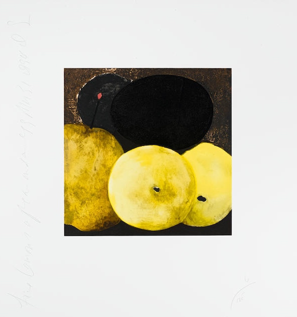 Fruit And Flowers Iii – Black Lemon by Donald Sultan