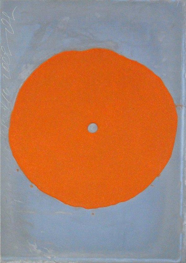 Orange Trumpet by Donald Sultan
