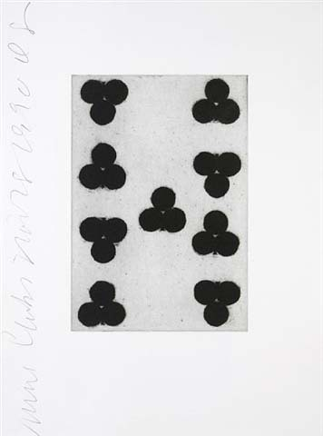 Playing Cards (nine Of Clubs) by Donald Sultan