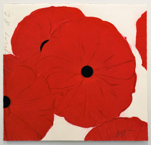 Red Poppies, March 21, 2012 by Donald Sultan at Donald Sultan