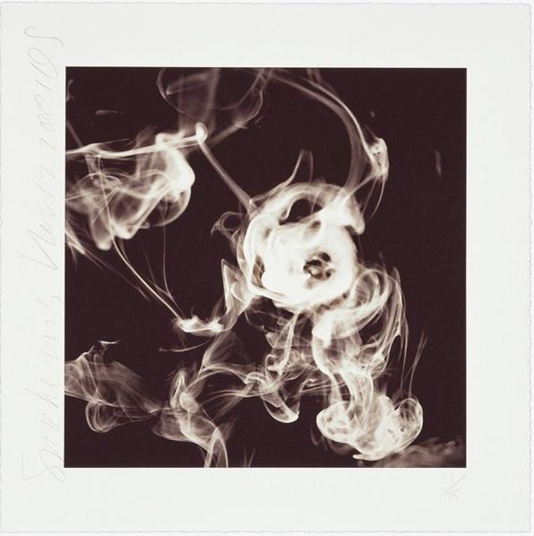 Smoke Rings (nov. 12, 2001) by Donald Sultan