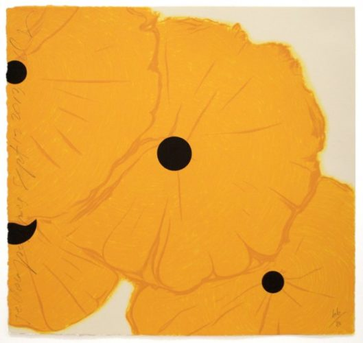 Yellow Poppies Sept 12, 2013 by Donald Sultan at Donald Sultan