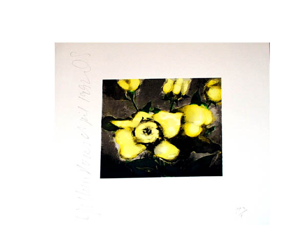 Yellow Roses by Donald Sultan at
