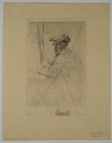 The Engraver Joseph Tourney by Edgar Degas