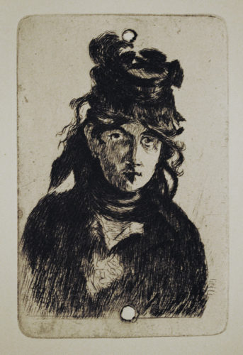 Berthe Morisot by Edouard Manet at