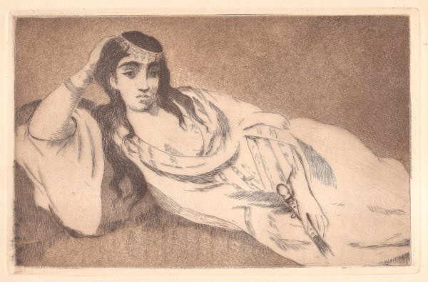 Odalisque (l'odalisque Couchée) by Edouard Manet