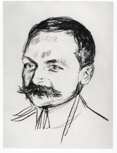 Bildnis Dr. Wilhelm Wartmann by Edvard Munch