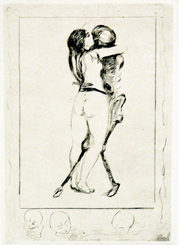 Døden Og Kvinnen (death And The Woman) by Edvard Munch