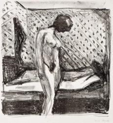 Gråtende Ung Kvinne Ved Sengen by Edvard Munch at John Szoke Gallery (IFPDA)