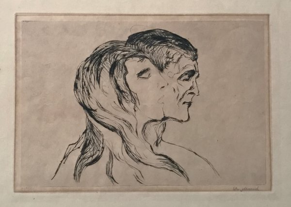 Hode Ved Hode (head By Head) by Edvard Munch