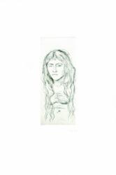 Kvinnestudie Med Langt Hår (woman With Long Hair) by Edvard Munch at John Szoke Gallery (IFPDA)