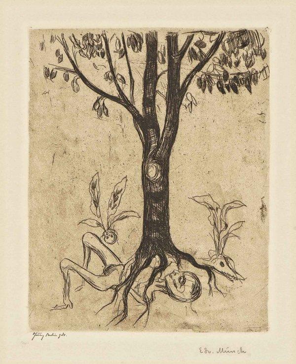 Liv Og Død (life And Death) by Edvard Munch