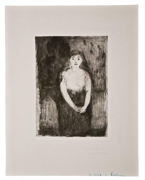 Modellstudie (study Of A Model) by Edvard Munch