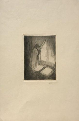 Piken Ved Vinduet (girl At The Window) by Edvard Munch at John Szoke Gallery (IFPDA)