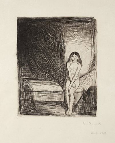 Pubertet (puberty) by Edvard Munch