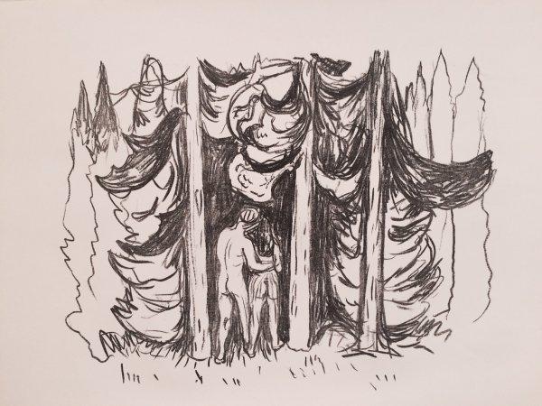 Skogen (the Forest) by Edvard Munch