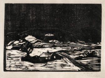 Snølandskap (winter Landscape) by Edvard Munch at John Szoke Gallery (IFPDA)