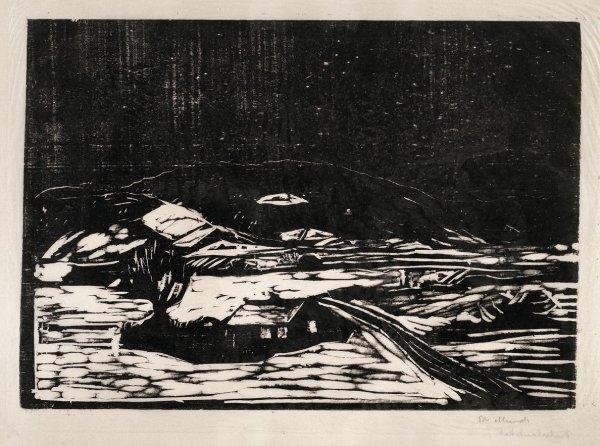 Snølandskap (winter Landscape) by Edvard Munch