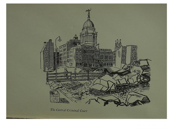 Central Criminal Court (old Bailey) by Edward Bawden at