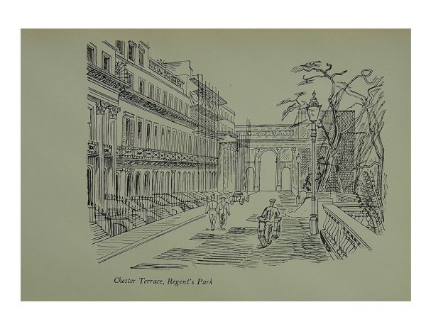 Chester Terrace Regents Park by Edward Bawden at