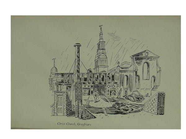 Christs Church Greyfriars by Edward Bawden at