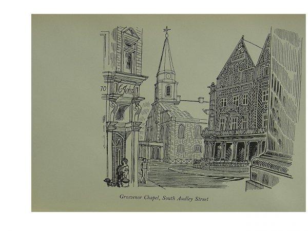 Grosvenor Chapel by Edward Bawden at