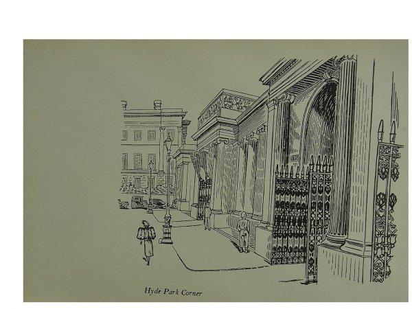 Hyde Park Corner by Edward Bawden
