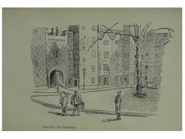 Lincoln's Inn Gatehouse by Edward Bawden at