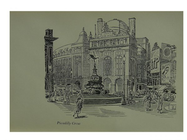 Picadilly Circus (eros) by Edward Bawden at
