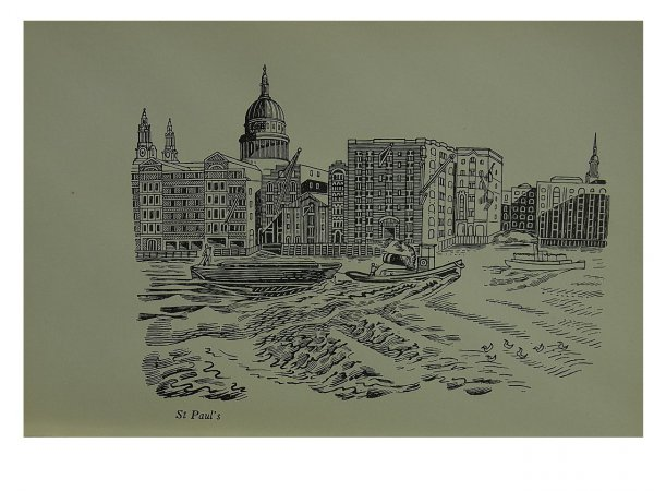 St Paul's Cathedral by Edward Bawden at