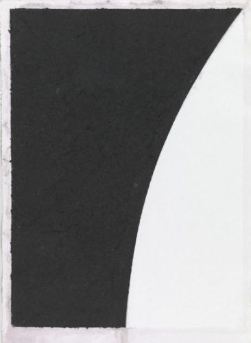 Colored Paper Image Vi (white With Black Curve Ii) by Ellsworth Kelly