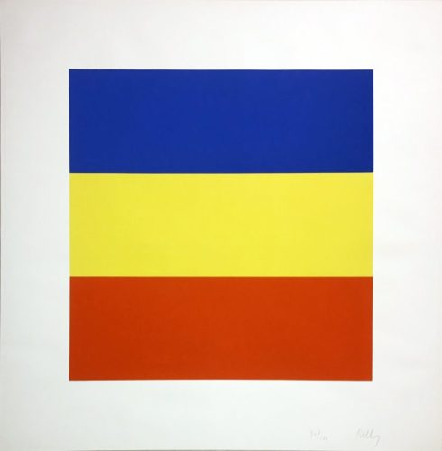 Blue/yellow/red (untitled) by Ellsworth Kelly
