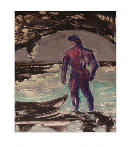 "Untitled, ""blue Man"" by Elsa Flores"