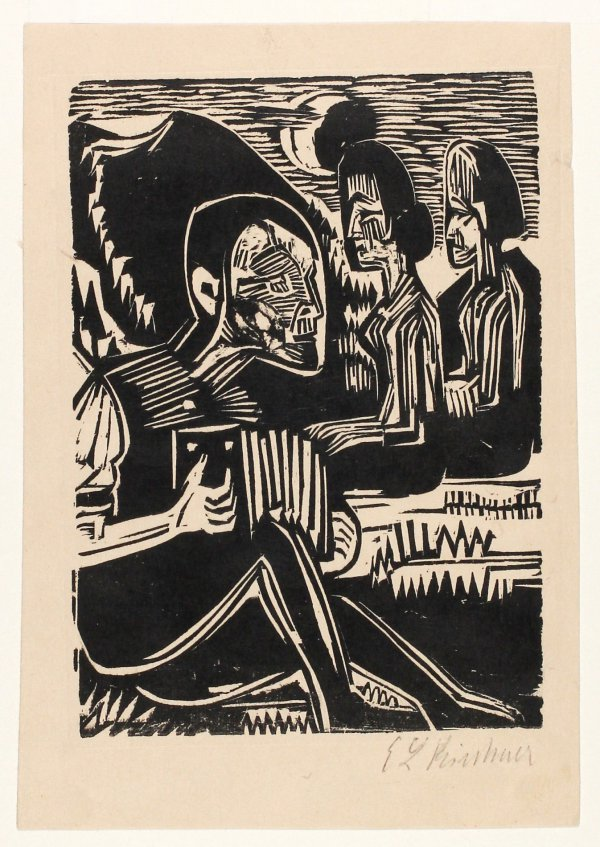Mondnacht (moonlit Night) by Ernst Ludwig Kirchner