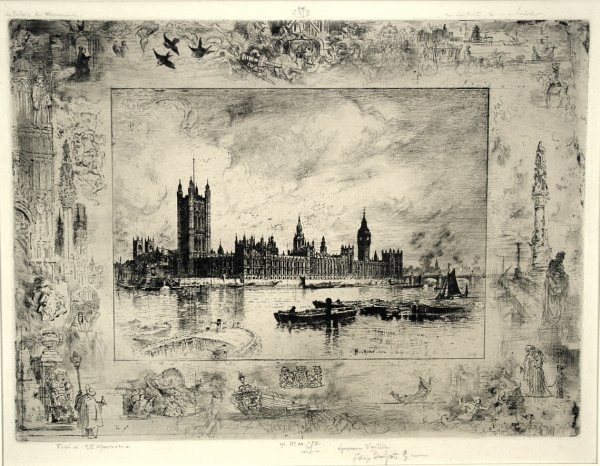 Westminster Palace by Felix Buhot at