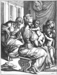 The Holy Family by Fra Bonaventura Bisi at R. S. Johnson Fine Art (IFPDA)