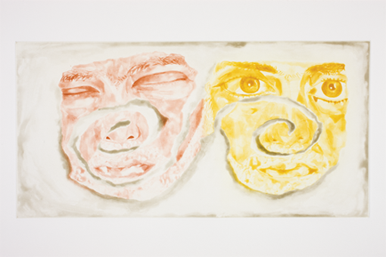 Celtic Self-portrait by Francesco Clemente at Irish Museum of Modern Art