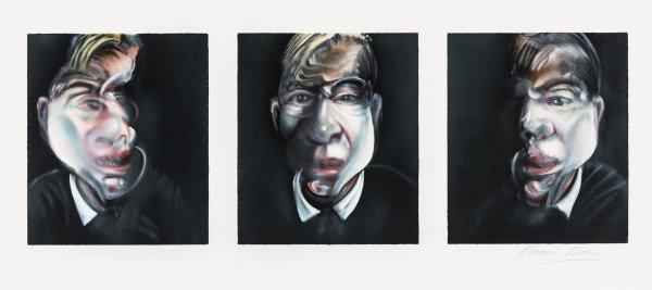 Trois études Pour Un Autoportrait 1981 by Francis Bacon at