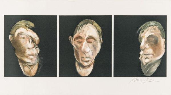 Trois études Pour Un Autoportrait 1990 by Francis Bacon